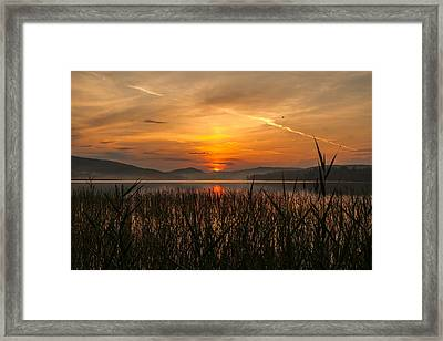 Memories Of A Sunset Framed Print by Rose-Maries Pictures