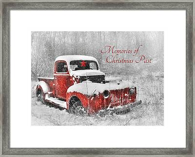 Memories Of Christmas Past Framed Print by Lori Deiter