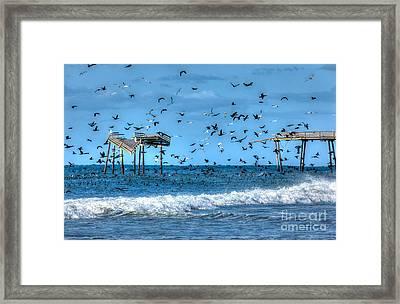 Memories Of Frisco Pier - Outer Banks I Framed Print by Dan Carmichael