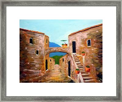 memories of Montalcino Framed Print by Larry Cirigliano