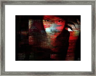 Memory Etched In Wood Framed Print by Gun Legler