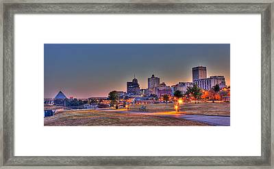 Cityscape - Skyline - Memphis At Dawn Framed Print by Barry Jones
