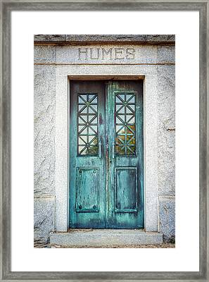 Memphis Elmwood Cemetery - Humes Crypt Framed Print by Jon Woodhams