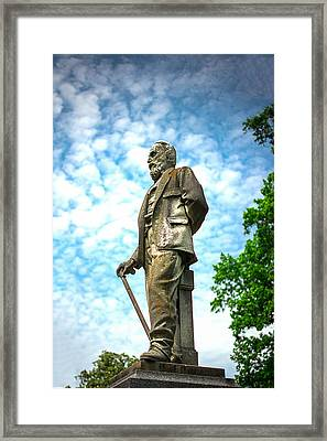 Memphis Elmwood Cemetery - Man With Cane Framed Print by Jon Woodhams