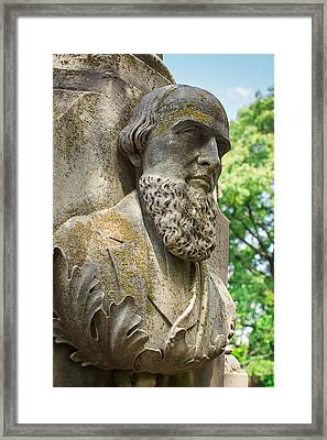 Memphis Elmwood Cemetery - Resting On His Laurels Framed Print by Jon Woodhams