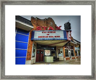 Memphis - Stax Records 001 Framed Print by Lance Vaughn