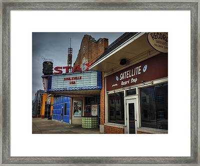 Memphis - Stax Records 002 Framed Print by Lance Vaughn