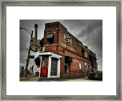Memphis - Sun Studio 001 Framed Print by Lance Vaughn