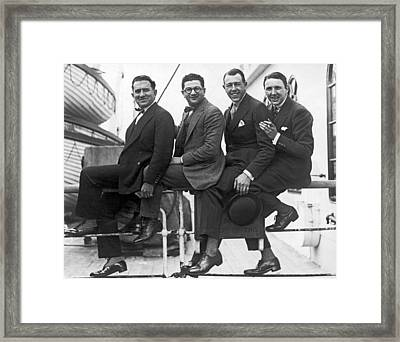 Men Arriving From Europe Framed Print by Underwood Archives
