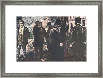 Men In Yellow Light Framed Print by Kendall Kessler