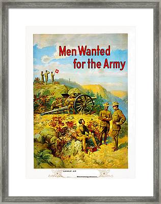 Men Wanted For The Army Framed Print by MotionAge Designs