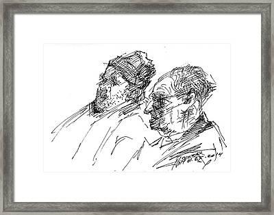 Men Framed Print by Ylli Haruni