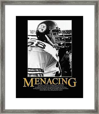Menacing Jack Lambert Framed Print by Retro Images Archive