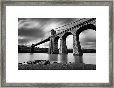 Menai Suspension Bridge Framed Print by Dave Bowman