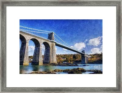 Menai Susupension Bridge Framed Print by Ian Mitchell
