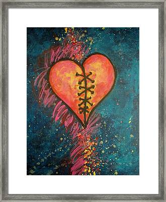 Mended Broken Heart Framed Print by Carol Suzanne Niebuhr