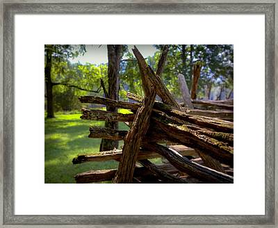 Mending Fences Framed Print by Karen Wiles