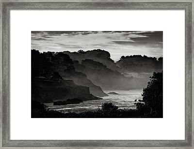 Mendocino Coastline Framed Print by Robert Woodward