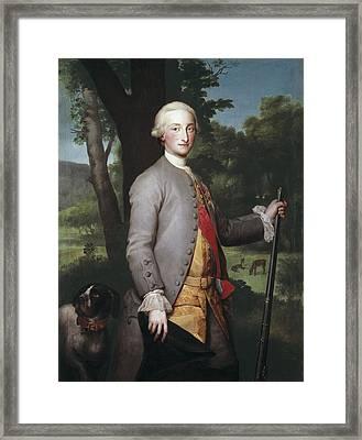 Mengs, Anton Raphael 1728-1779. Charles Framed Print by Everett
