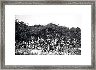 Mens Bicycle Club Framed Print by Daniel Hagerman