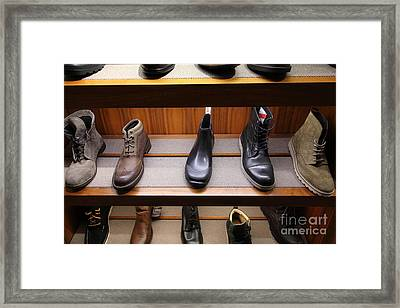 Men's Shoes - 5d20645 Framed Print by Wingsdomain Art and Photography