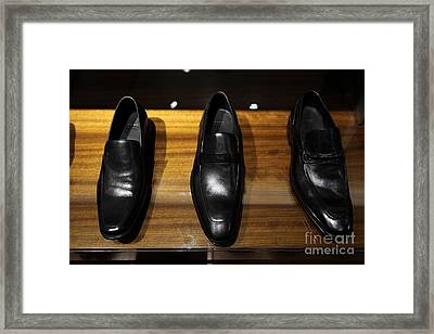 Men's Shoes - 5d20646 Framed Print by Wingsdomain Art and Photography