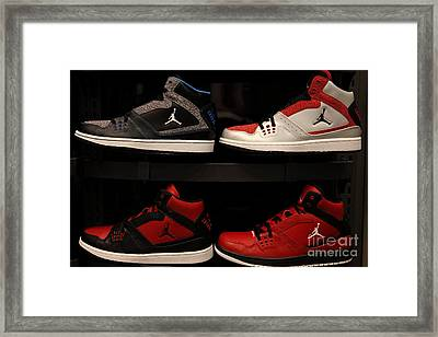 Men's Sports Shoes - 5d20653 Framed Print by Wingsdomain Art and Photography