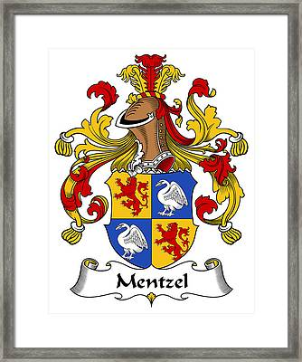 Mentzel Coat Of Arms German Framed Print by Heraldry