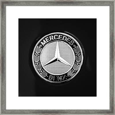 Mercedes-benz 6.3 Gullwing Emblem Framed Print by Jill Reger