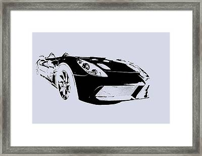 Mercedes Slr Stirling Moss Framed Print by Jose Bispo