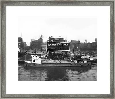 Merchandise Mart Construction Framed Print by Underwood Archives