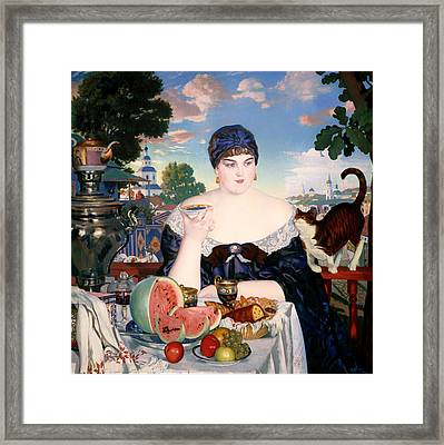 Merchant's Wife At Tea Framed Print by Mountain Dreams