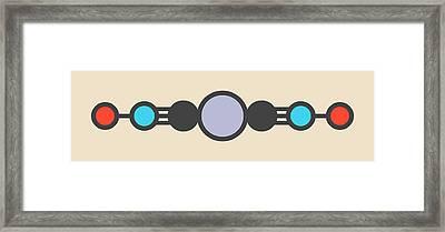 Mercury Fulminate Explosive Molecule Framed Print by Molekuul