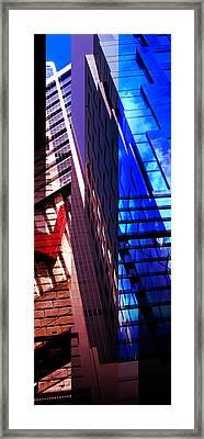 Merged - City Blues Framed Print by Jon Berry OsoPorto
