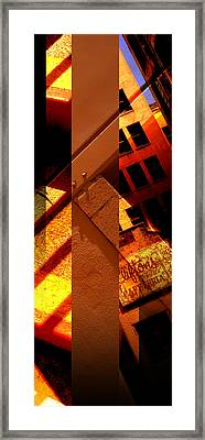 Merged - Orange City Framed Print by Jon Berry