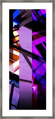 Merged - Purple City Framed Print by Jon Berry