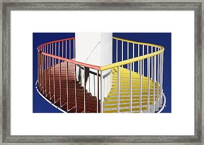 Merging Steps Framed Print by Robert Woodward