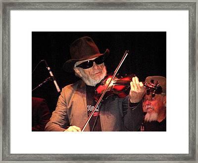 Merle Haggard Playing Fiddle Framed Print by Kelly Mac Neill