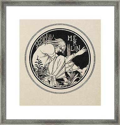 Merlin Framed Print by British Library