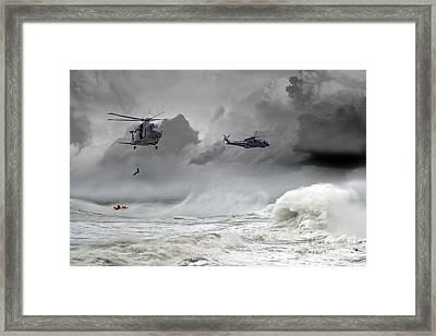 Merlin Rescue Framed Print by J Biggadike