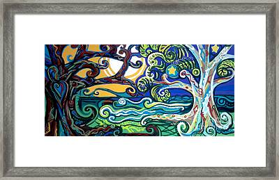Merlin Tree Heart-hur Framed Print by Genevieve Esson