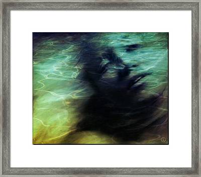 Mermaid Longing Framed Print by Gun Legler
