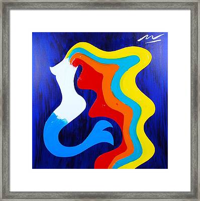 Mermaid Framed Print by Mac Worthington