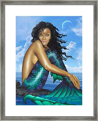 Mermaid Rihanna 2.0 Framed Print by Lauri Loewenberg