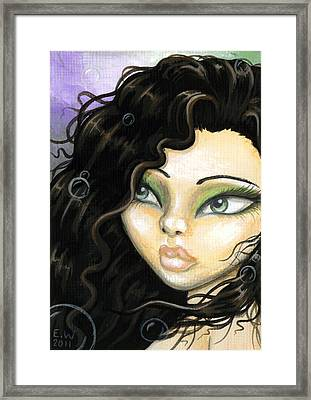 Mermaid Tia Framed Print by Elaina  Wagner