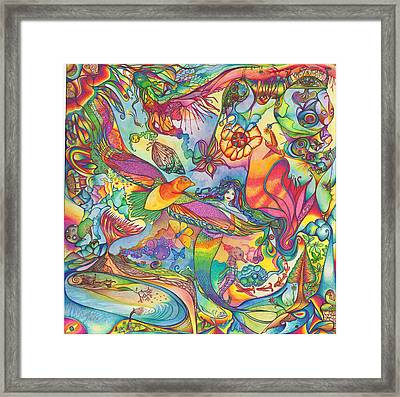Mermaid Towne Framed Print by DiNo and Dart