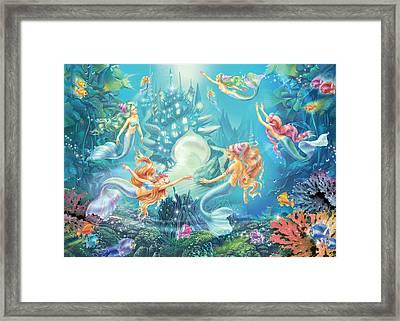 Mermaids Place Framed Print by Zorina Baldescu