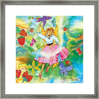 Merri Goldentree Dances Framed Print by Teresa Ascone