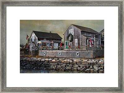 Merry By The Sea Framed Print by Robin-lee Vieira