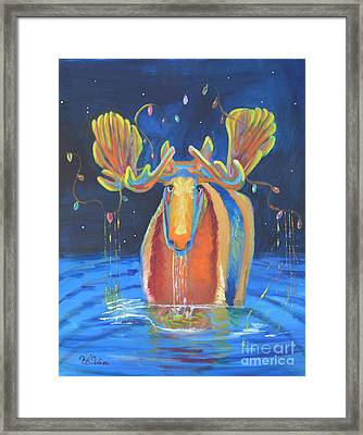 Merry Christmoose Framed Print by To-Tam Gerwe